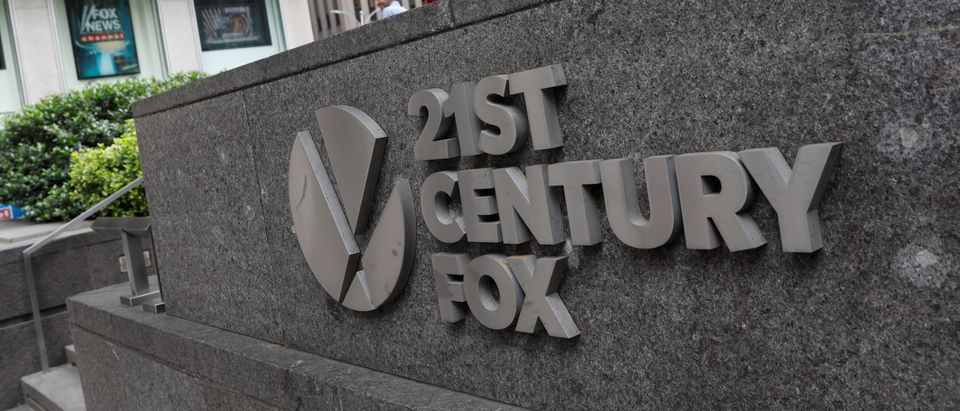 The 21st Century Fox logo is seen outside the News Corporation building in Manhattan, New York, U.S., June 13, 2018. (REUTERS/Shannon Stapleton)