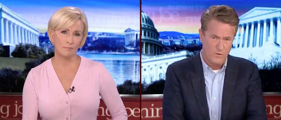 "Mika Brzezinski and Joe Scarborough host ""Morning Joe."" Screenshot/MSNBC"