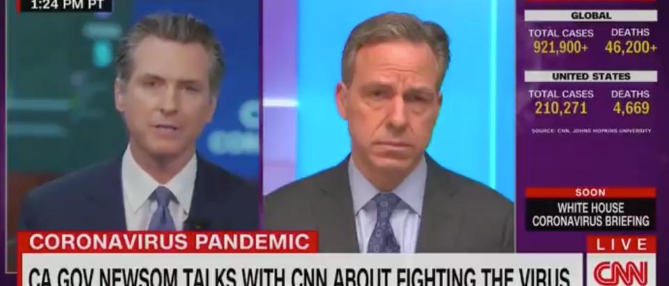 Jake Tapper, CNN, Gavin Newsom, Trump, Coronavirus