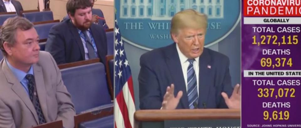 Donald Trump took a jab at the Associated Press Sunday. (Screenshot CNN)
