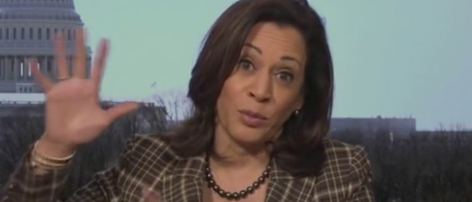 "Sen. Kamala Harris appears on ""The View."" Screenshot/ABC"