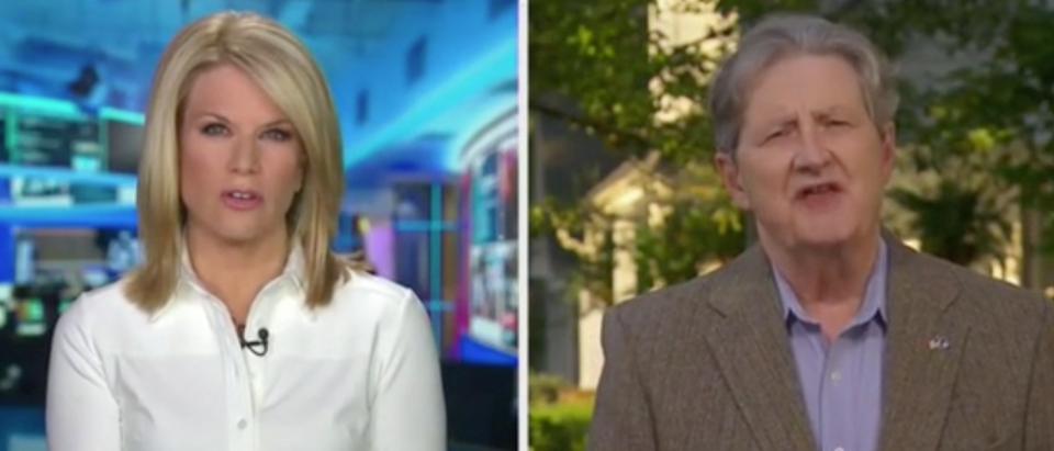 Martha MacCallum speaks with Sen. John Kennedy. Screenshot/Fox News