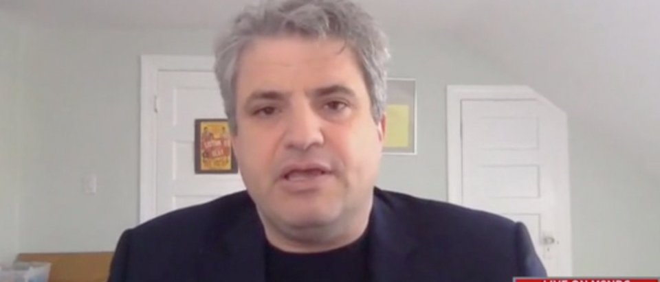 "David Zirin appears on ""AM Joy."" Screenshot/MSNBC"