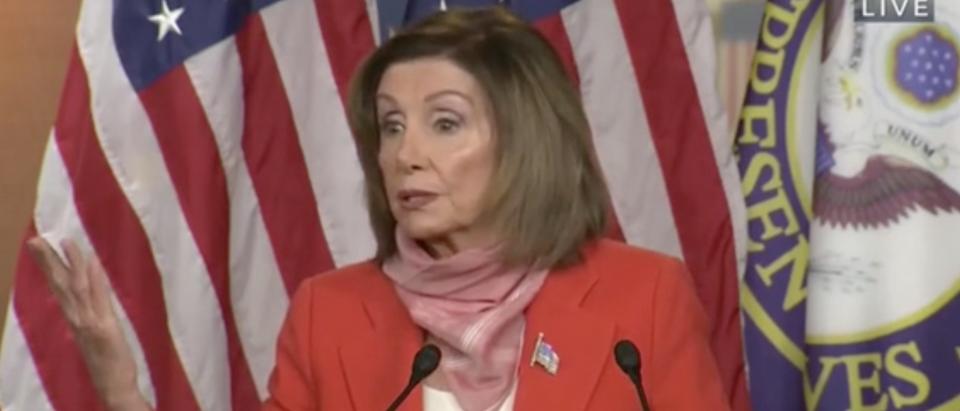 Nancy Pelosi gives press conference. Screenshot/C-Span