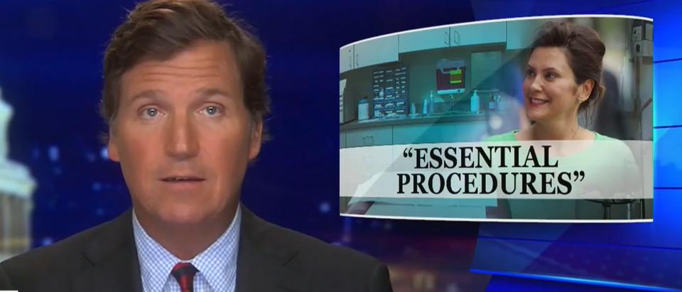Tucker Carlson blasts Gretchen Whitmer (Fox News screengrab)