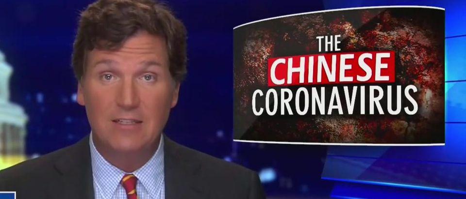 Tucker Carlson questions 'Chinese model' coronavirus response (Fox News screengrab)