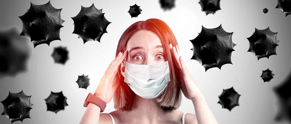 Young coronavirus victim (Shutterstock, Daily Caller)