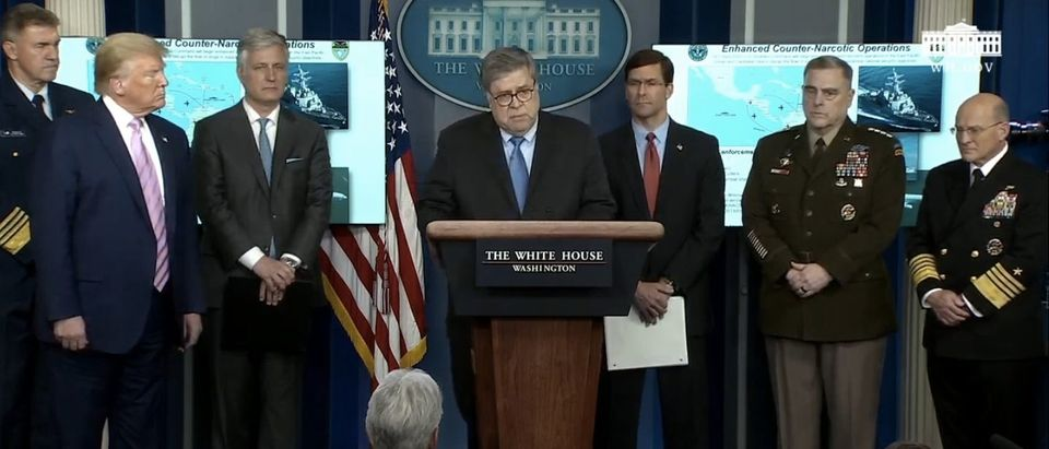 President Trump announces a narcotics operation. (Screenshot/YouTube/White House)