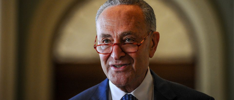 Schumer makes a statement after meetings to wrap up work on coronavirus economic aid legislation