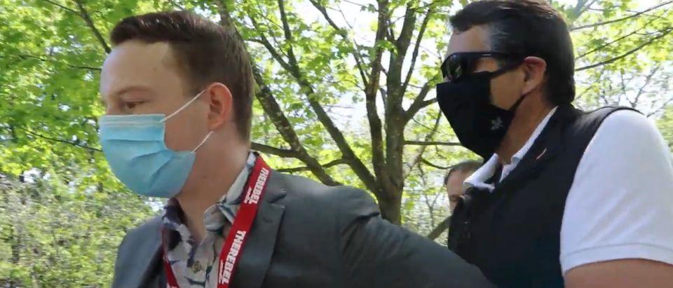 Rebel Media reporter Keenan Bexte