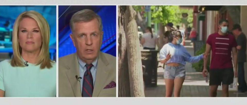 Brit Hume hits back at CNN mask criticism (Fox News screengrab)
