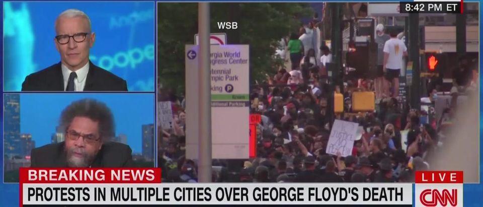 Cornel West predicts more violence (CNN screengrab)
