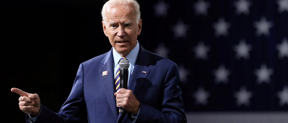 FILE PHOTO: 2020 Democratic U.S. presidential candidate and former Vice President Joe Biden speaks during the Presidential Gun Sense Forum in Des Moines