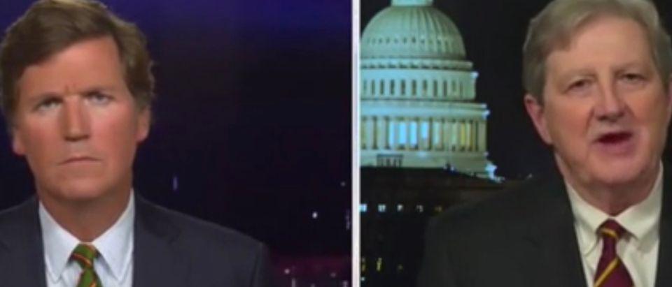 Tucker Carlson and Sen. John Kennedy