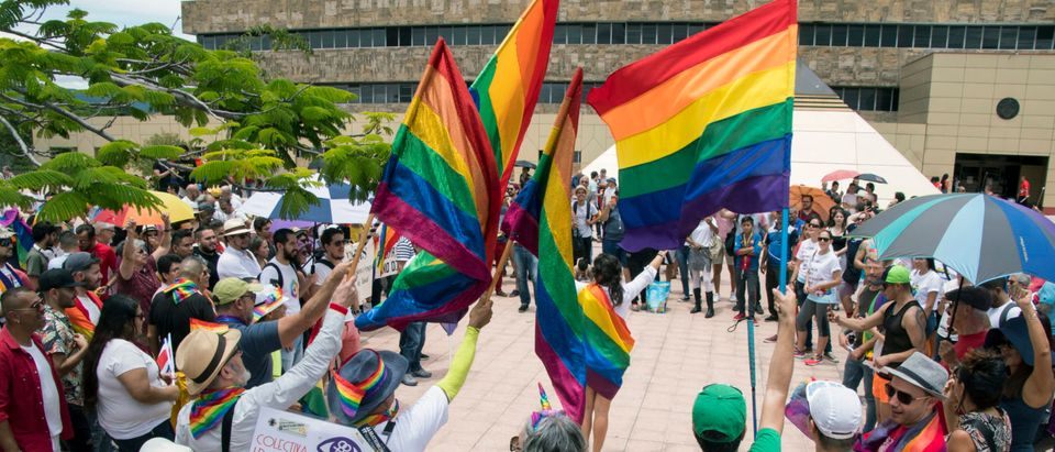 COSTA RICA-RIGHTS-GAY-MARRIAGE-PROTEST