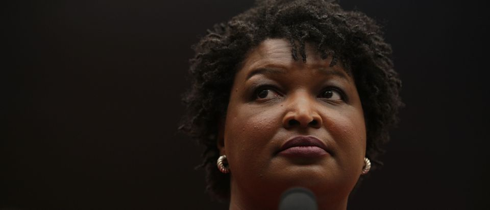 Former Democratic leader in the Georgia House of Representatives and founder and chair of Fair Fight Action Stacey Abrams testifies during a hearing before the Constitution, Civil Rights and Civil Liberties Subcommittee of House Judiciary Committee June 25, 2019 on Capitol Hill in Washington, DC. (Alex Wong/Getty Images)
