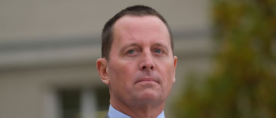 U.S. Ambassador to Germany Richard Grenell waits for the arrival of U.S. Secretary of State Mike Pompeo for talks with German Defense Minister Annegret Kramp-Karrenbauer at the Federal Defense Ministry on November 08, 2019 in Berlin, Germany. (Sean Gallup/Getty Images)