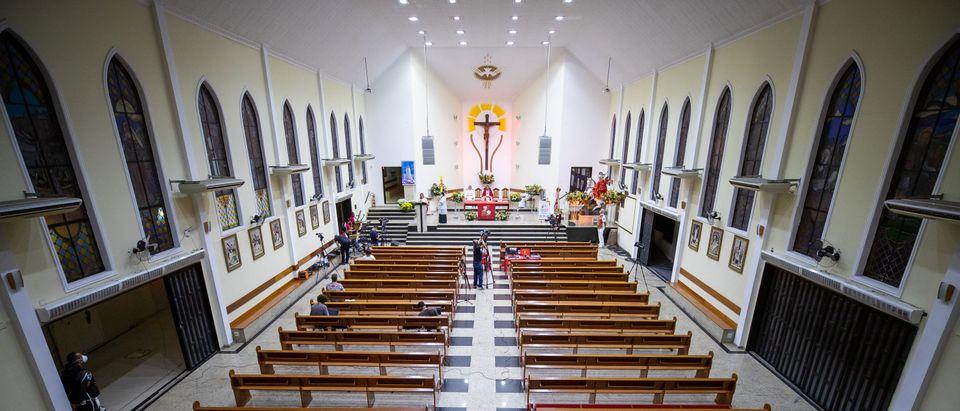 Celebration Mass on Sao Jorge's Day Amidst the Coronavirus (COVID - 19) Pandemic