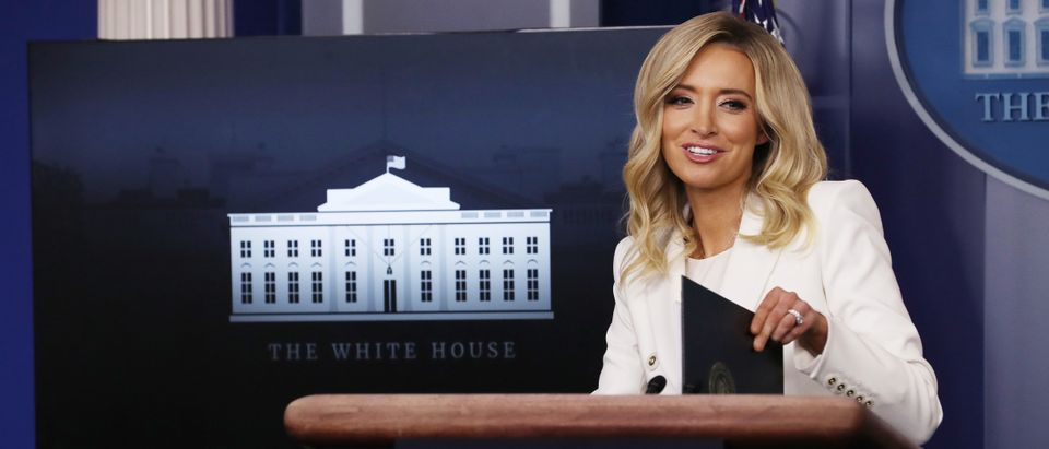 White House Press Secretary Kayleigh McEnany Holds Briefing With Media At White House