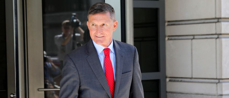 Michael Flynn, former National Security Advisor to President Donald Trump, departs the E. Barrett Prettyman United States Courthouse following a pre-sentencing hearing July 10, 2018 in Washington, DC. (Aaron P. Bernstein/Getty Images)