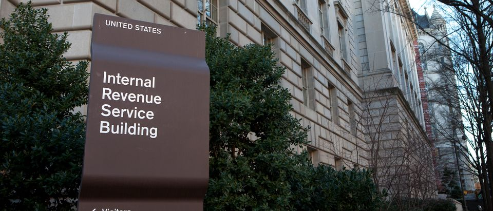 Sign outside the Internal Revenue Service building in downtown Washington, DC on December 26, 2014.. Shutterstock