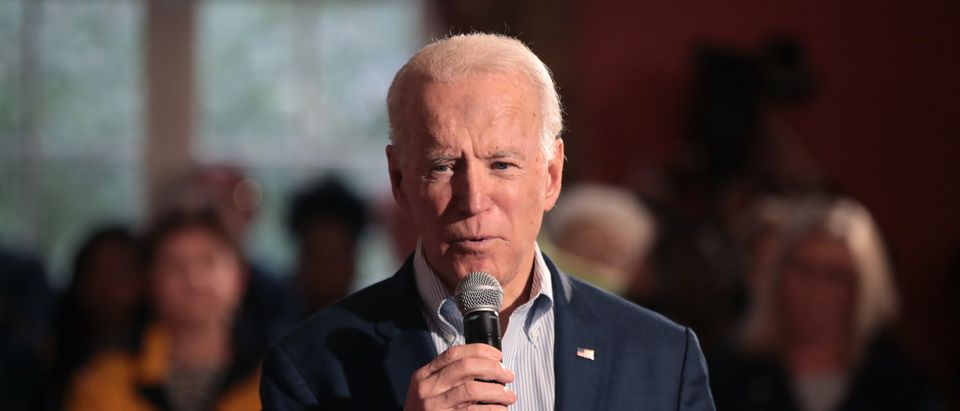 GEORGETOWN, SOUTH CAROLINA - FEBRUARY 26: Democratic presidential candidate former Vice President Joe Biden speaks to guests during a campaign stop at the Winyah Indigo Society Hall on February 26, 2020 in Georgetown, South Carolina. Voters in South Carolina will cast ballots to make their selection for the Democratic nominee for president on February 29. (Photo by Scott Olson/Getty Images)