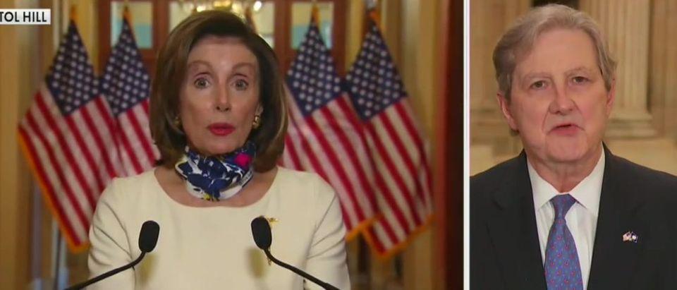 John Kennedy slams Pelosi's House coronavirus bill (Fox News screengrab)