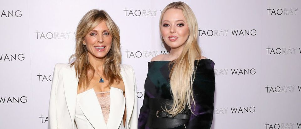 Marla Maples (L) and Tiffany Trump pose backstage for Taoray Wang fashion show during New York Fashion Week: The Shows at Gallery II at Spring Studios on February 9, 2019 in New York City. (Photo by Astrid Stawiarz/Getty Images for Taoray Wang)