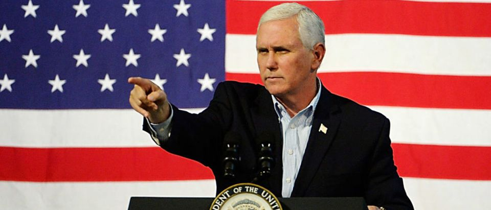 Pence Joins GOP VA Gubernatorial Candidate Ed Gillespie At Campaign Rally