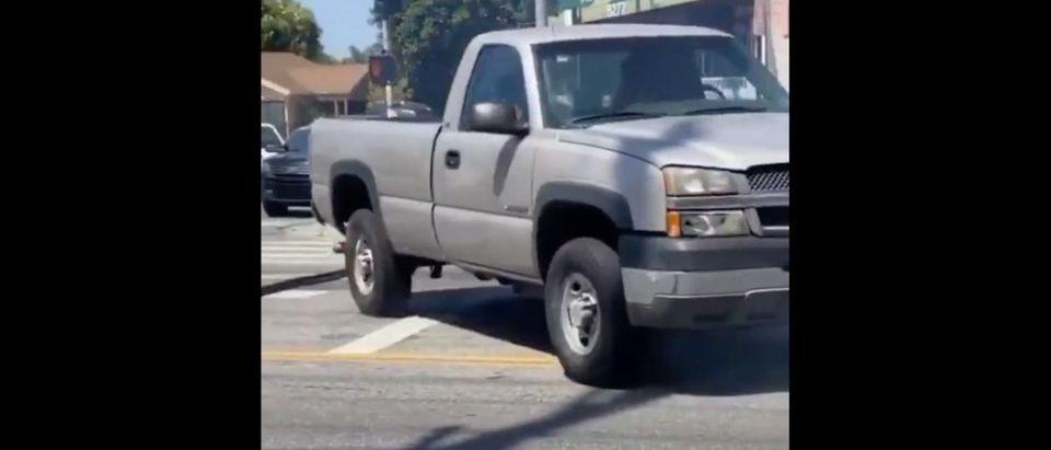 Police Truck Video (Credit: Screenshot/Twitter Video https://twitter.com/mike_jonsey/status/12639152760573501440)