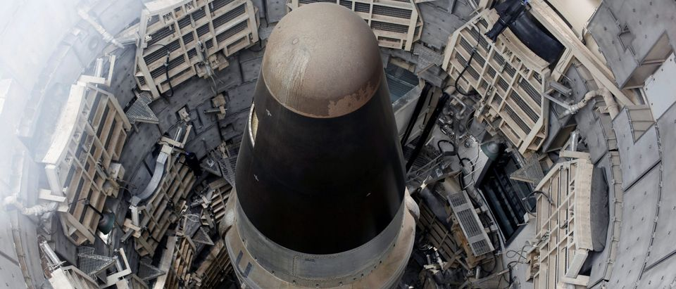 The Titan Missile, shown from above during a tour of the 103-foot Titan II ICBM site which was decommissioned in 1982, at the Titan Missile Museum in Sahuarita