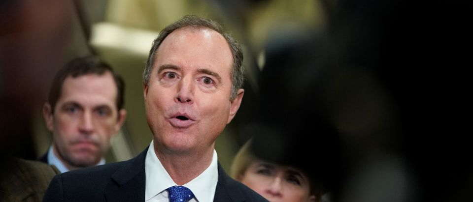 House Impeachment Manager Rep. Schiff (D-CA) speaks to the mediaas the Trump impeachment trial continues in Washington.