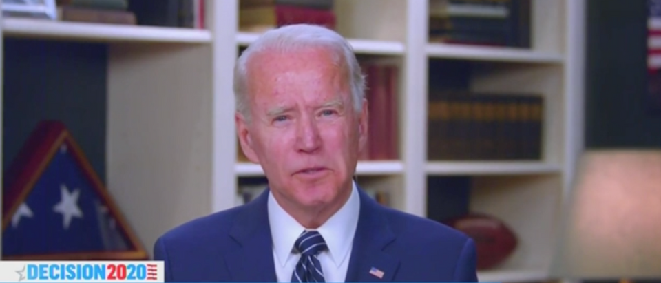 Joe Biden said that he probably wouldn't vote for himself if he believed Tara Reade. (Screenshot MSNBC, The Last Word with Lawrence O'Donnell)
