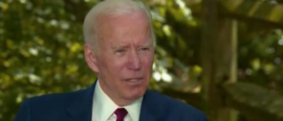 Joe Biden interviews with Dana Bash on CNN. Screenshot/CNN