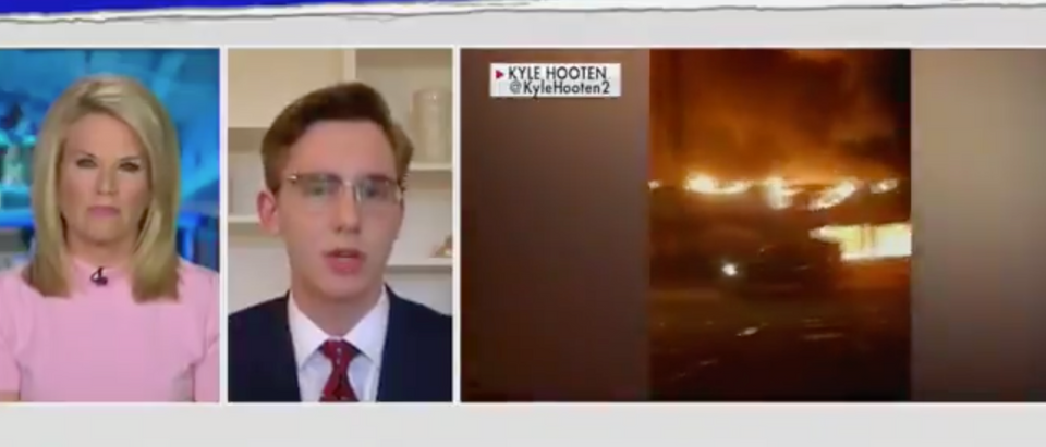 A reporter on the ground in Minneapolis describes the riots after George Floyd's death. (Screenshot Twitter the Daily Caller)