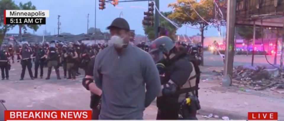 Omar Jimenez was arrested on live TV during a report about the Minneapolis riots. (Screenshot CNN, New Day)
