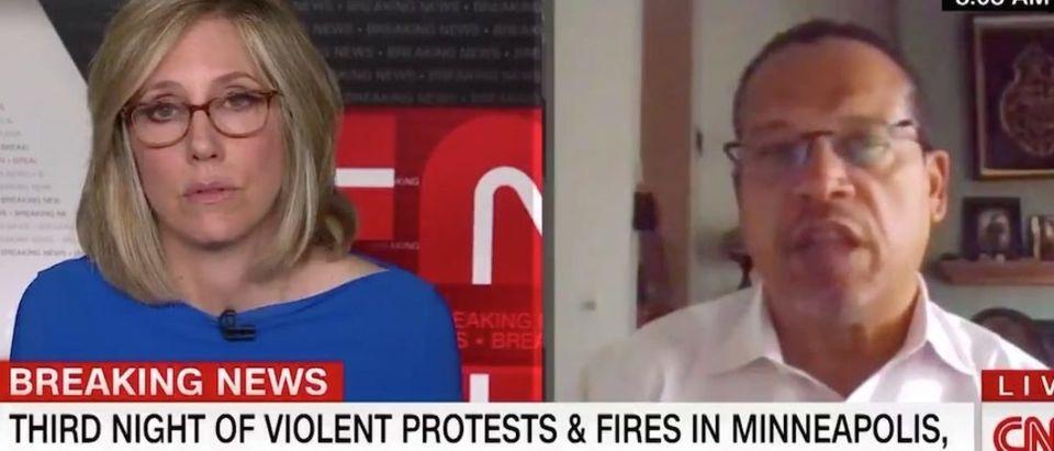 Screen Shot:Youtube:Keith Ellison:CNN:New Day