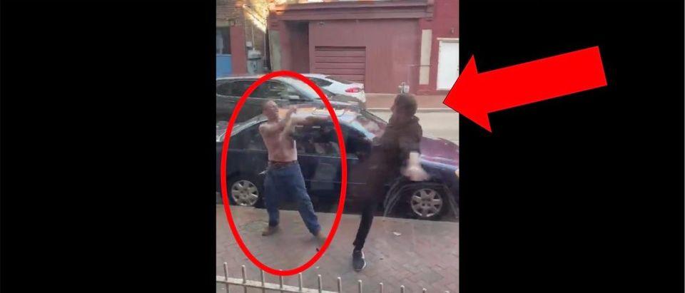 Viral Kick Video (Credit: Screenshot/Twitter Video https://twitter.com/benfeuerherd/status/1260287645999038469)
