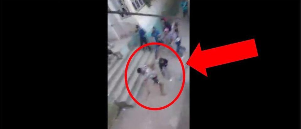 Sword Fight (Credit: Screenshot/Liveleak Video https://www.liveleak.com/view?t=ka3Un_1588672454)
