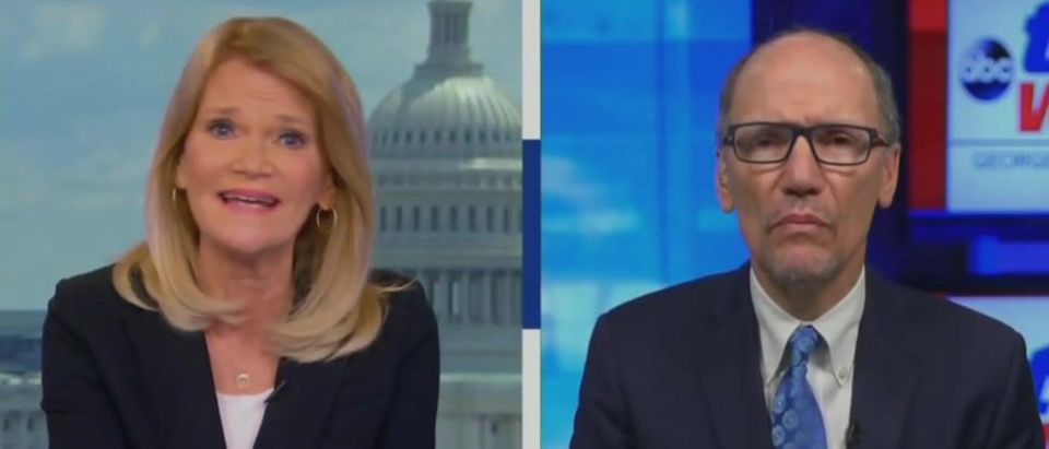 Tom Perez Says Biden Records 'Like The Hillary Emails' (ABC screengrab)