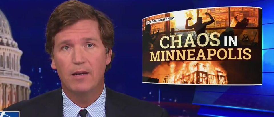 Tucker Carlson blasts media, leaders for stoking race hatred (Fox News screengrab)