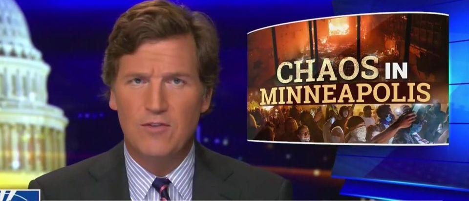 Tucker Carlson discusses Minneapolis (Screenshot/Fox News)