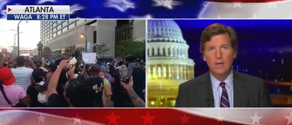 Tucker Carlson warns about new lynch mobs (Fox News screengrab)