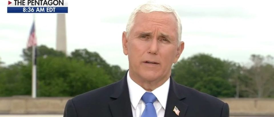 Vice President Pence gives update on reopening efforts on 'Fox & Friends'_Screen Shot_Fox News