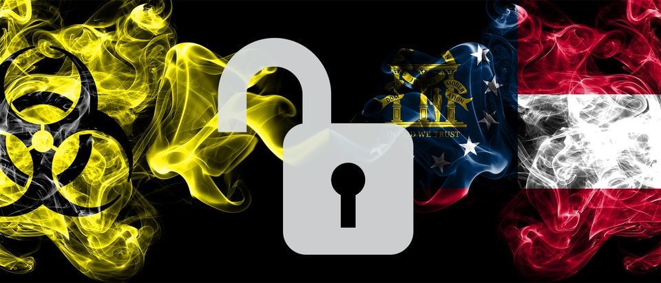 lock, key, American flag, quarantine, hazard