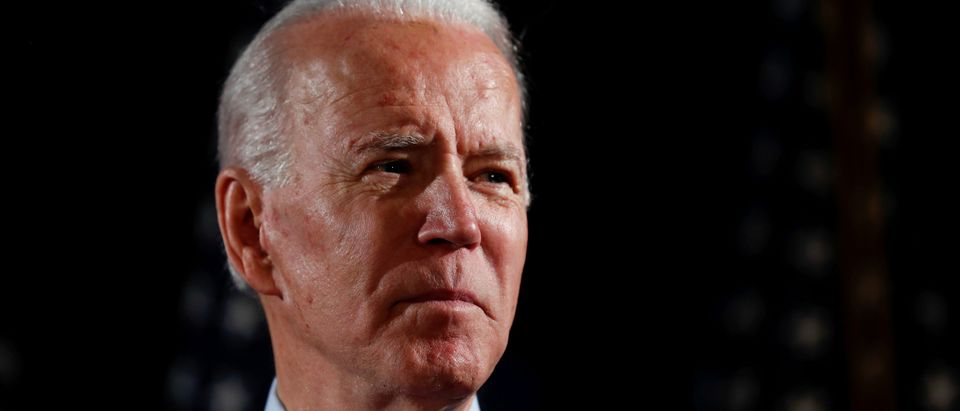 Democratic U.S. presidential candidate and former Vice President Joe Biden speaks about responses to the COVID-19 coronavirus pandemic at an event in Wilmington, Delaware, U.S., March 12, 2020. REUTERS/Carlos Barria/File Photo