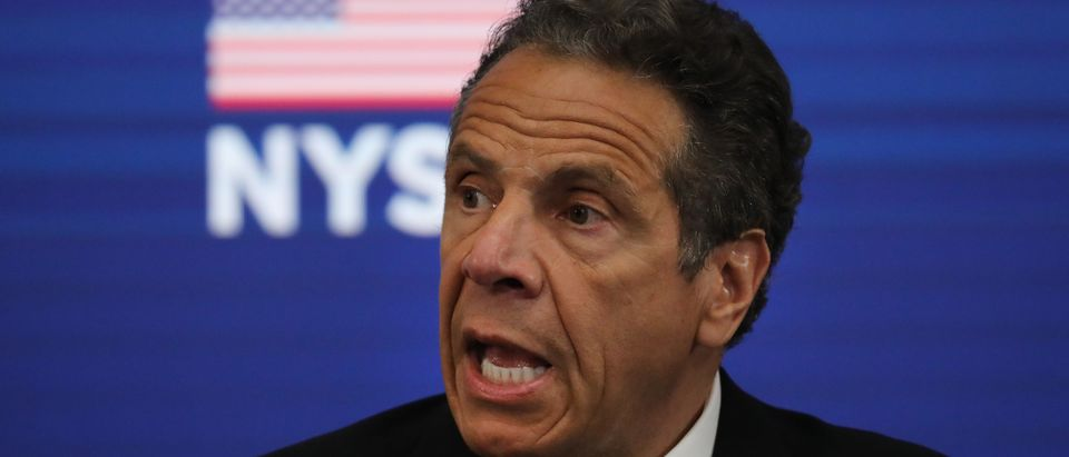 NY Gov. Cuomo Holds Daily Briefing From Re-Opened NY Stock Exchange
