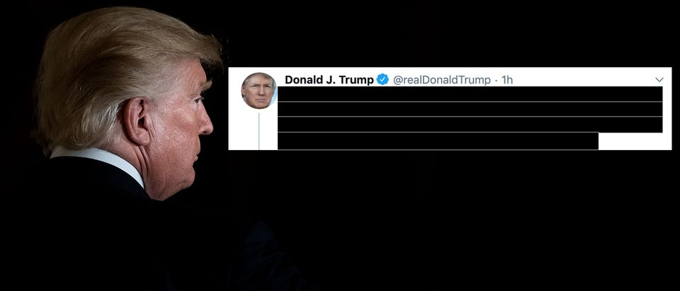 President Donald Trump keeps tweeting about Joe Scarborough's dead intern. (The Daily Caller, Getty Images, Twitter)