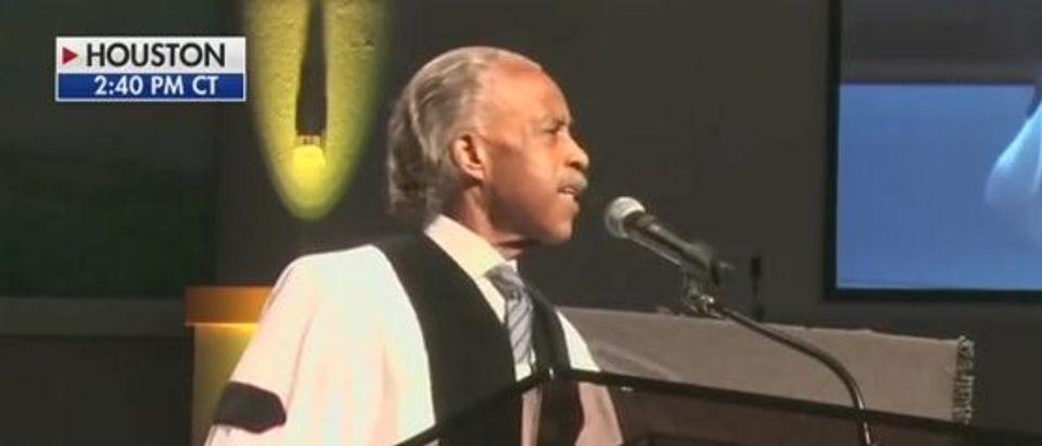 Al Sharpton uses George Floyd funeral to demand job for Kaepernick (Fox News screengrab)
