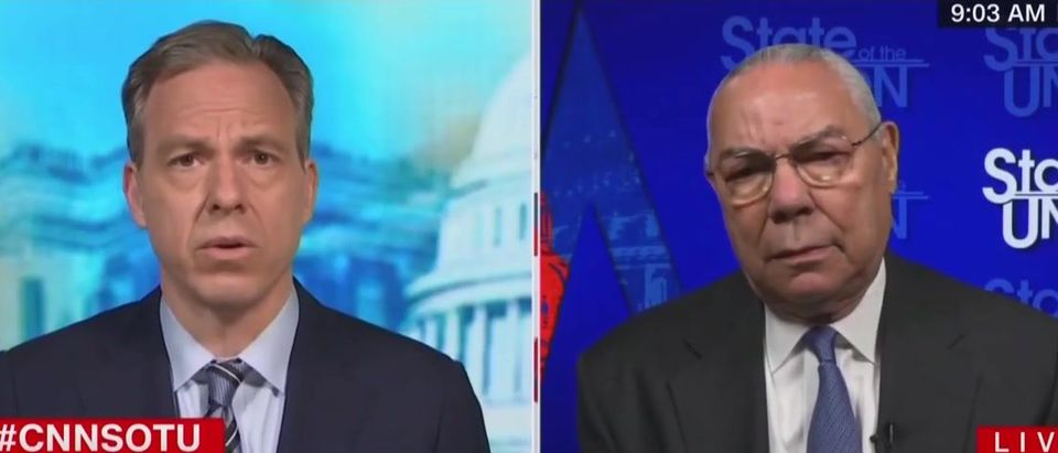 Colin Powell says he is not supporting Trump (CNN screengrab)